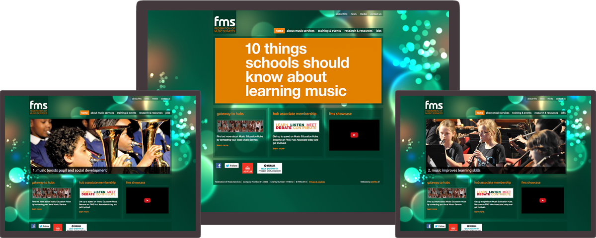 FMS website on different devices